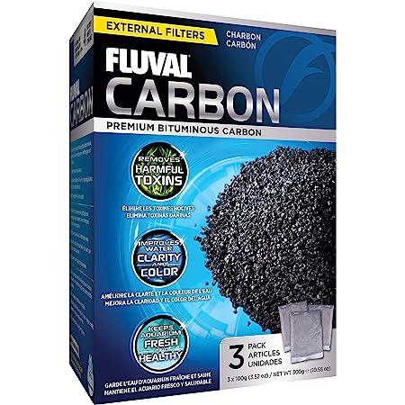 Fluval Média de Filtration 3x100 g Charbon