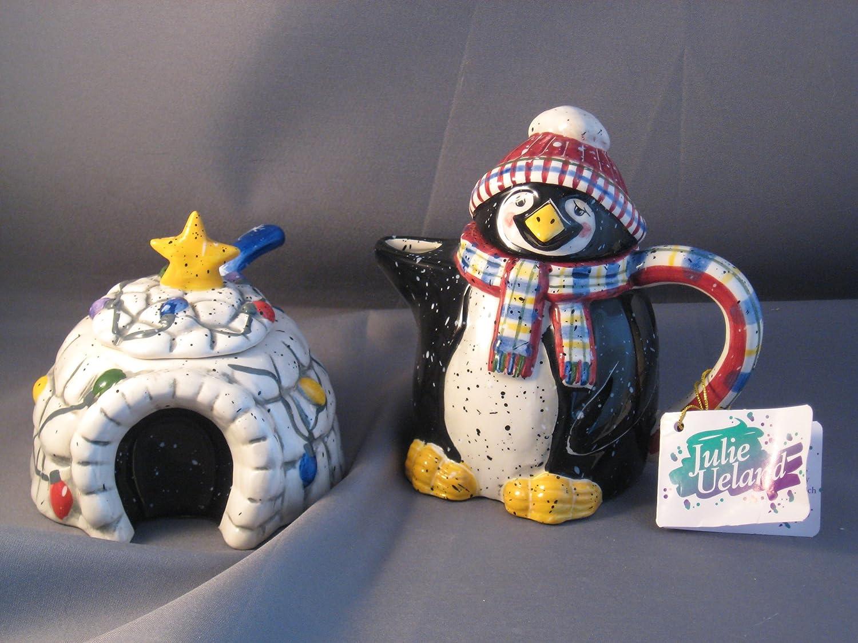 Holiday At North Pole Penguin Sugar safety Igloo Creamer Virginia Beach Mall Set