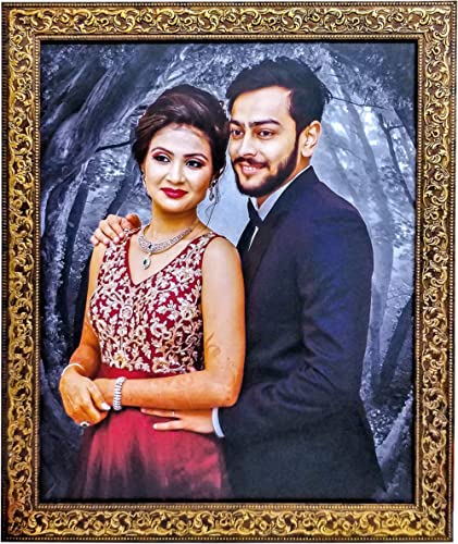SRK GROUP OF DIGITAL LAB Synthetic Wood Personalized HD Photo Frame for Wall (Multicolour)