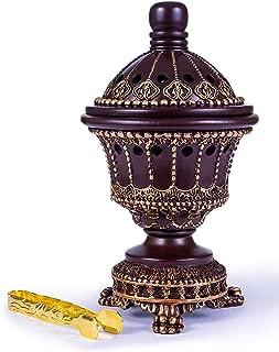 AM Incense Burner Bakhoor Burner (Chalice, Brown)