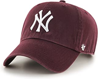 `47 Brand MLB New York Yankees Clean Up Cap - Maroon