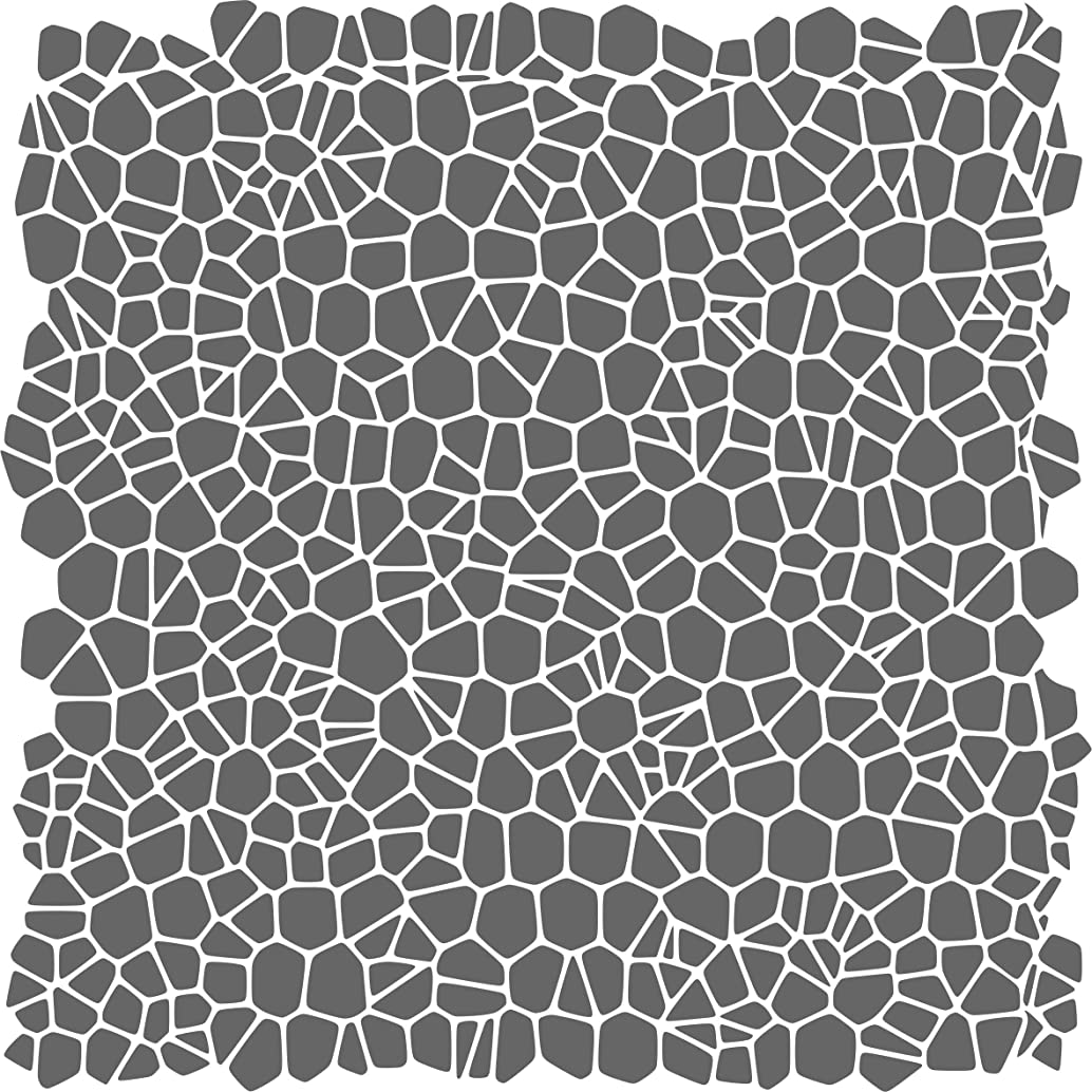 """Crackle Pattern Stencil - (size 14""""w x 14""""h) Reusable Wall Stencils for Painting - Best Quality Template Allover Wallpaper ideas - Use on Walls, Floors, Fabrics, Glass, Wood, and More…"""