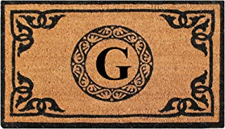 A1 Home Collections PT3006G First Impression Hand Crafted By Artisans Geneva Monogrammed Entry Doormat, 24