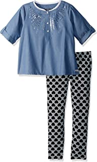 kensie 女童时尚上衣和打底裤套装