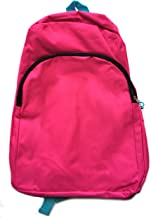 Backpack (pink with teal straps)