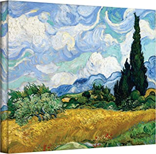 Art Wall Wheatfield with Cypresses by Vinan Gogh Gallery Wrapped Canvas, 36 by 48-inch