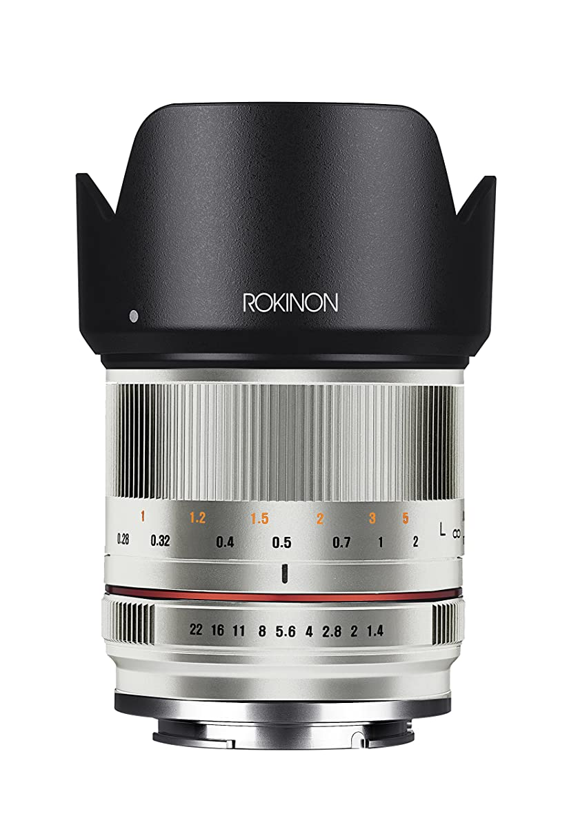 Rokinon RK21M-FX-SIL 21mm F1.4 ED AS UMC High Speed Wide Angle Lens for Fuji (Silver)