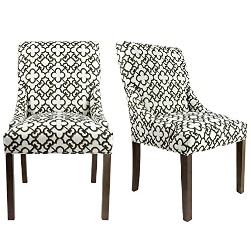Enjoyable Black And White Dining Chairs Amazon Com Dailytribune Chair Design For Home Dailytribuneorg