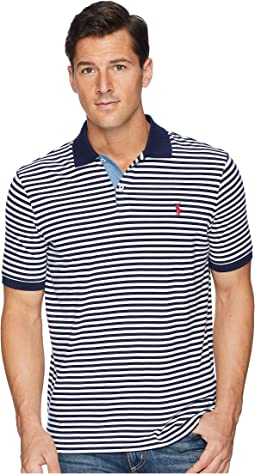 Classic Fit Yarn-Dyed Striped Polo