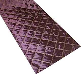 Thro 2107 13 by 72-Inch Quilted Criss Cross Runner, Wine