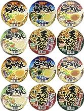 Hikari Menraku - Japanese Instant Ramen Noodles Bowl, 6 Flavor Sampler Variety Pack (Miso, Tonkatsu, Shio, Shoyu, Tempura Udon, Tempura Soba) | Total 12 Pack, Each Flavor X 2 Pack