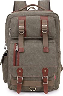 Crest Design Canvas Hiking Travel Daypacks School 16 inch Laptop Backpack Rucksack 30L