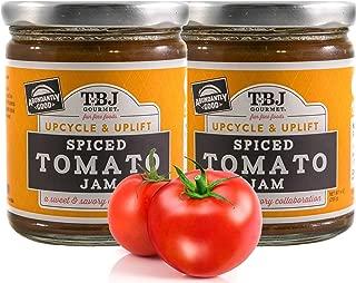 TBJ Gourmet Spiced Tomato Jam - Spicy Tomato Jam - Spicy Tomato Ketchup Alternative - Sweet, Savory & Spicy Tomato Spread & Jam Preserves - Vegan, Gluten Free Jam - 2 x 9 Ounces