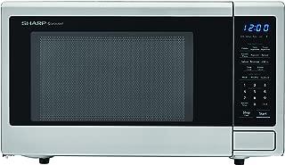 SHARP ZSMC1132CS Carousel 1.1 Cu. Ft. 1000W Countertop Microwave Oven with Orville Redenbacher's Popcorn Preset (ISTA 6 Packaging), Cubic Foot, 1000 Watts, Stainless Steel