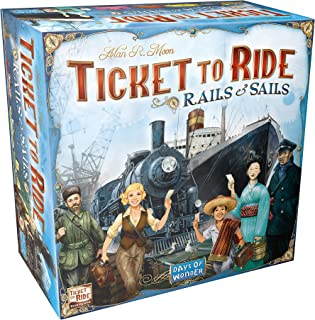 Ticket to Ride Rails & Sails Board Game | Family Board Game | Board Game for Adults and Family | Train Game | Ages 10+ | F...