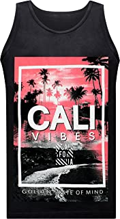 California Republic Paradise Vibes Golden State of Mind Men's Muscle Tee Tank Top