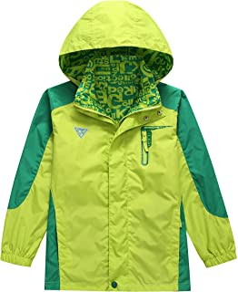 KID1234 Boys' Lightweight Rain Jacket Quick Dry Waterproof Hooded Coat