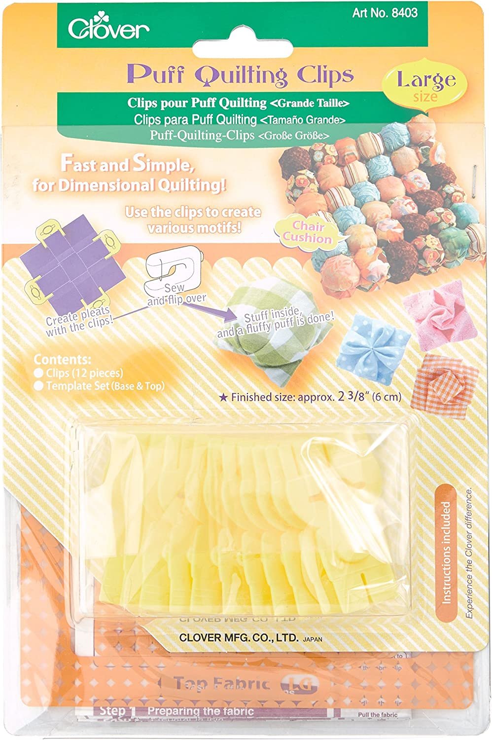 Sales for sale CLOVER Puff Quilting Large Clips Soldering