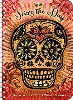Sugar Skull 2016 – 2017 On-the-Go Weekly Planner: 17-Month Calendar with Pocket