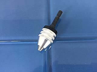 TEMO Keyless Chuck Adapter 1/4 inch (6mm) Hex Shank to Conventional or MicroSize Drill bit