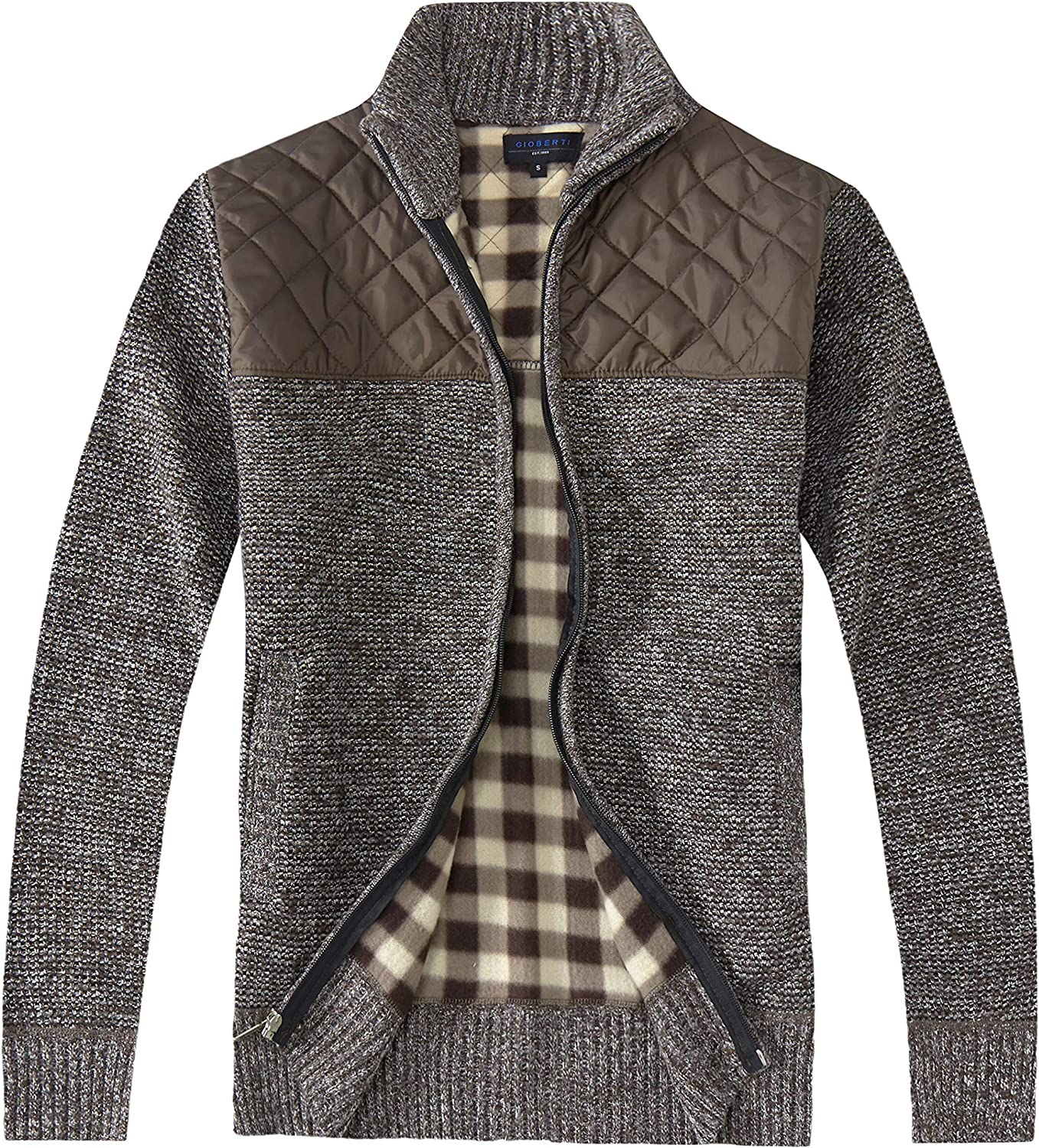 Limited time cheap sale San Antonio Mall Gioberti Men's Knitted Regular Fit wit Cardigan Zip Sweater Full