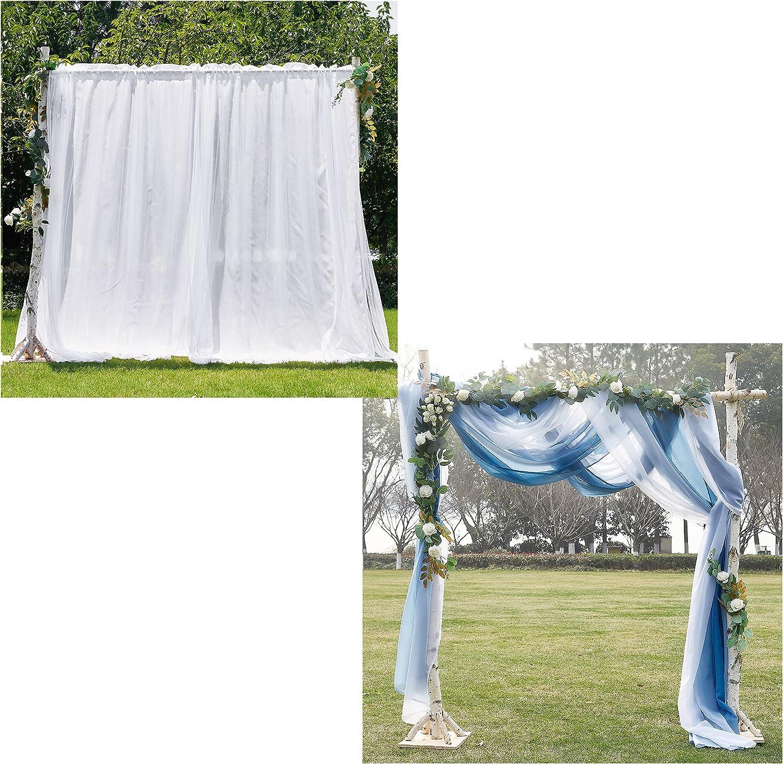 NICETOWN Sheer Scarf San Antonio Mall Recommendation Valances Bundle Parties Showe Baby Weddings