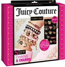 Make It Real - Juicy Couture Chains & Charms. DIY Charm Bracelet Making Kit for Girls. Design and Create Girls Bracelets with Juicy Couture Charms, Beads, Velvet Ribbon, Gold Chains and More