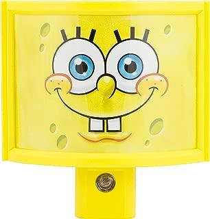 Jasco Nickelodeon SpongeBob SquarePants Automatic LED Night Light, Wraparound Shade, 13359