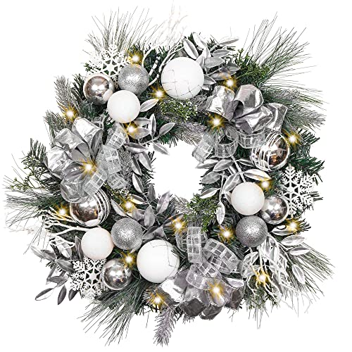 White And Silver Christmas Tree Theme.Silver And White Christmas Decorations Amazon Com