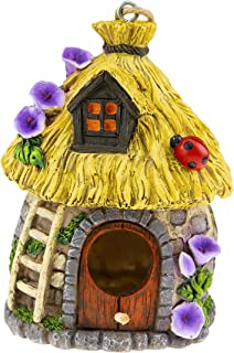 Hanging Decorative Resin Bird House   Hand Crafted Outdoor Home & Garden Décor for Wild Birds, Hummingbird, Cardinal, Finc...
