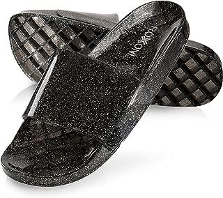 Women's Summer Flip Flop Open Toe Jelly Glitter Slide Sandal Slippers