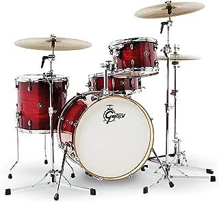 Gretsch Drums CT1-J404-GCB Catalina Club 4 Piece Drum Shell Pack, Gloss Crimson Burst