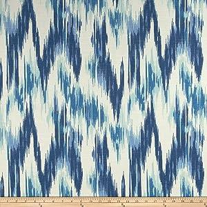 Home Accent Fabrics Home Accents Casbah Ikat Slub, Baltic Blue