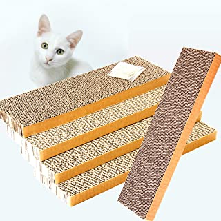 ShioSel, Cat Scratch Pads, Scratcher Cardboards Scratching Pads, Catnip Included (5-Pack,Slim)