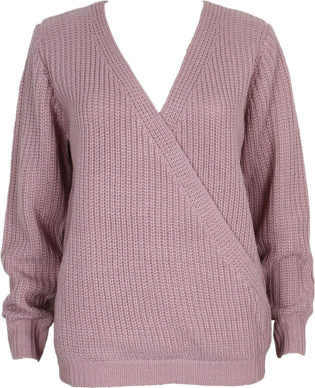 MINKPINK Women's Carmen Wrap Front Sweater, Pink