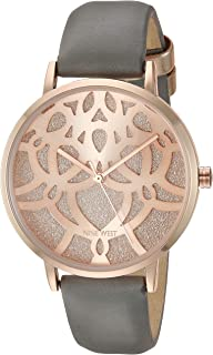 Nine West Women's Rose Gold-Tone Accented Strap Watch
