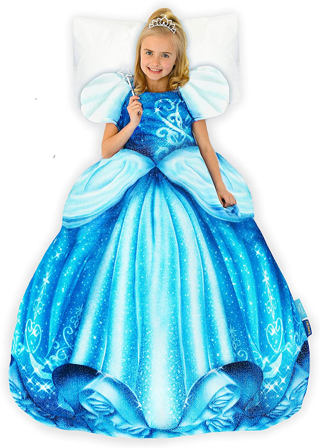 Blankie Tails Disney Beauty and The Beast Princess Belle Dress Wearable Blanket Super Soft-Double Sided Minky Fleece for Kids Climb Inside This Cozy Princess Dress Blanket