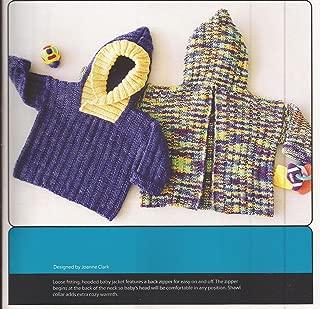 Back Zip Baby Jacket Fiber Trends Knitting Pattern CH-39 NB-15mos.