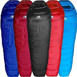 Hyke & Byke Shavano 0ºC Saco de Dormir de Plumón Ultraligero Momia - 3 Saco de Dormir Adulto de Menos de 1kg con Base ClusterLoft – Camping Accesorios para Senderismo, Excursiones y Camping