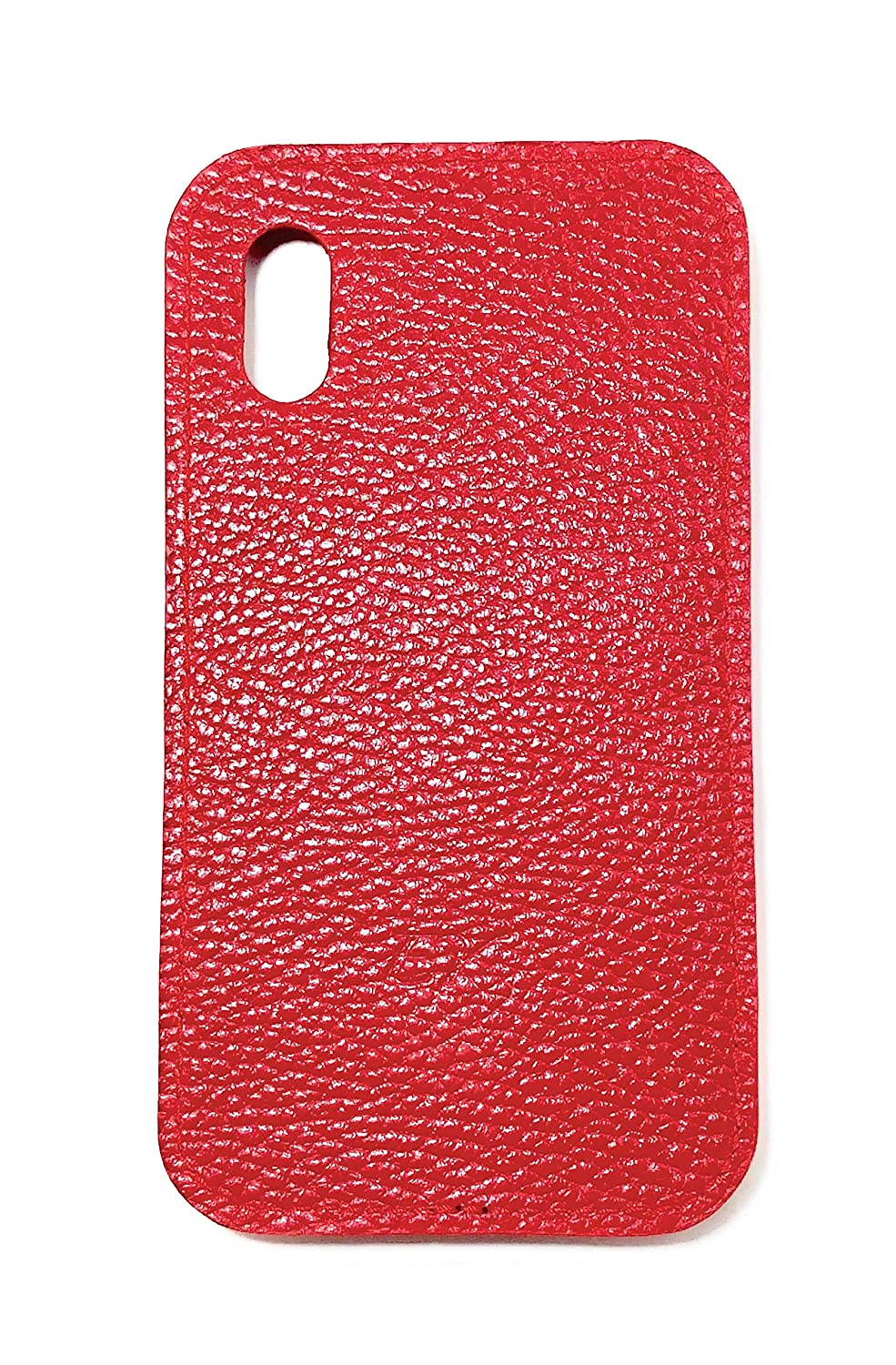 Leather iPhone X, XS Case Red