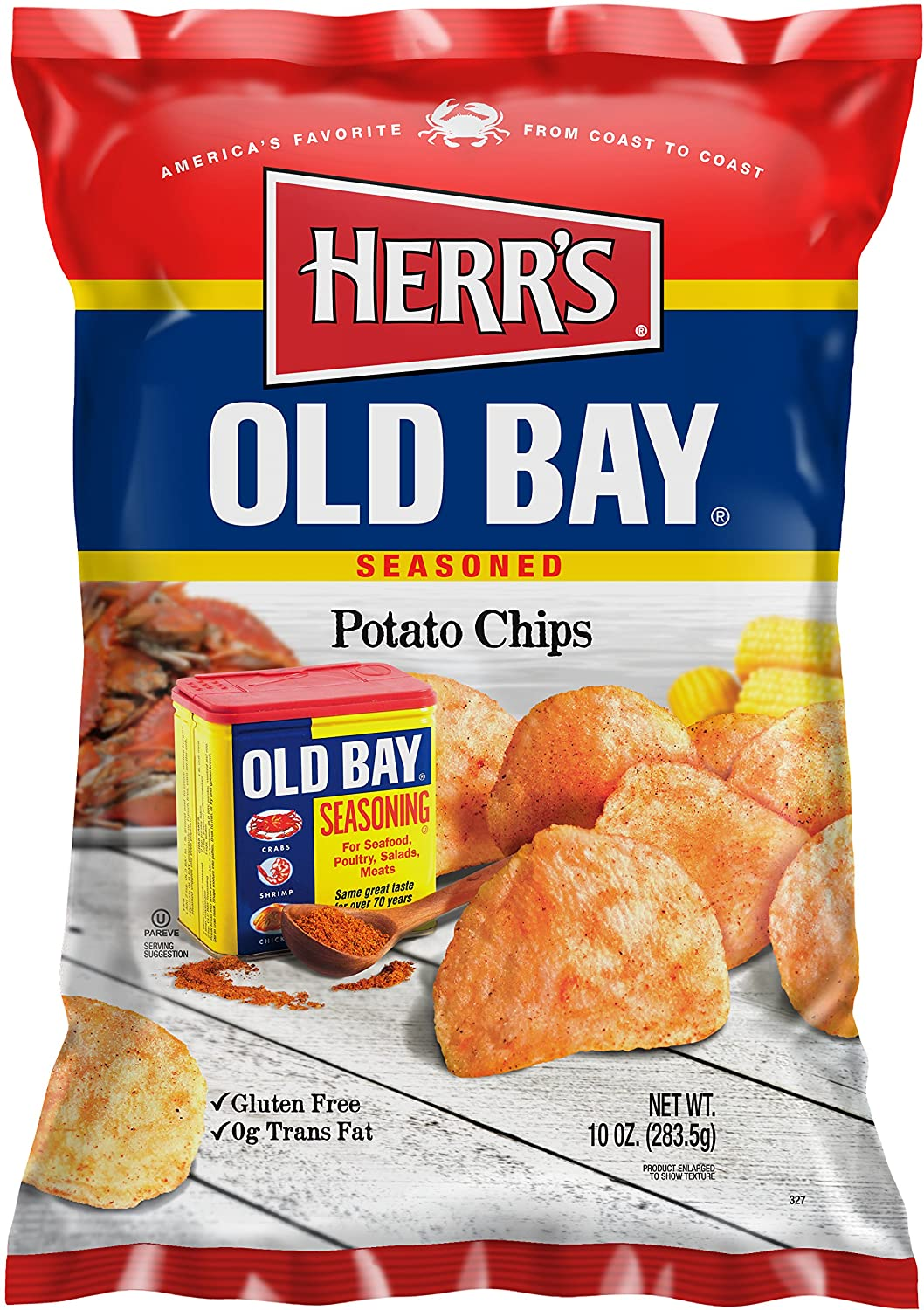 Herr's - Old Bay Potato Year-end annual account Chips 9 bags Pack of Gorgeous