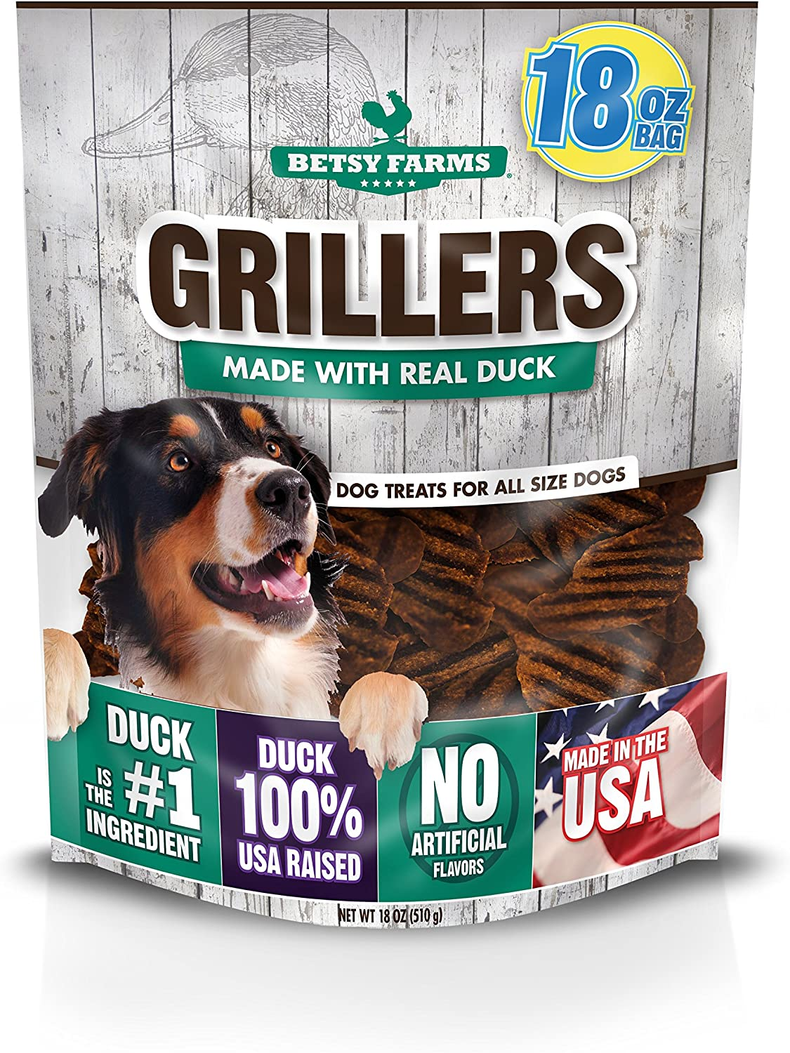 Online limited product Betsy Max 62% OFF Farms Duck Grillers Dog Oz Treats Tre Jerky 18