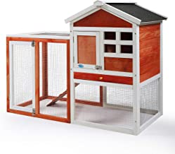 """COZIWOW 47""""×21""""×37"""" Indoor Outdoor Wooden Large Small Animal Hutch,Pets Crate House for Rabbit Bunny Cage Dog Cat Squirrel..."""