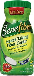 Benefiber Fiber Supplement 190 Servings - Sugar Free- Grit Free 722 grams (25.5 oz.)