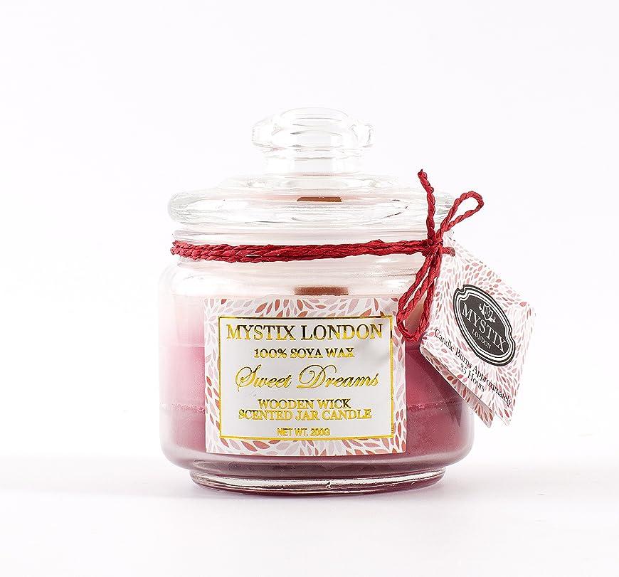 対角線利用可能満員Mystix London   Sweet Dreams Wooden Wick Scented Jar Candle 200g