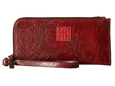 STS Ranchwear The Floral Clutch (Red) Clutch Handbags
