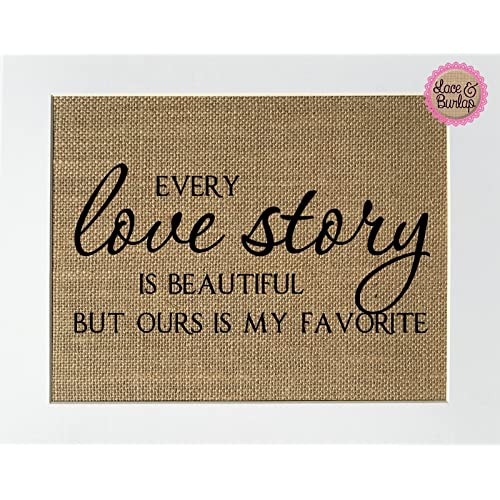 Shabby Wooden Wedding Sign Every Love Story Is Beautiful Personalised gift