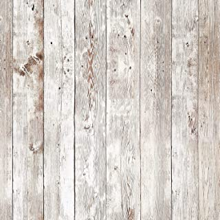 Livelynine White Wood Wall Paper Self Adhesive Shiplap Peel and Stick Wallpaper Wood Removable Shiplap Bulletin Board Paper Roll Farmhouse Classroom Decorations17.7