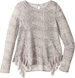 Splendid Littles - Python Print Loose Knit Top (Big Kids)