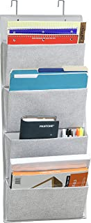 4 Pockets – Wall Mount/Over Door Office Supplies File Document Organizer Holder